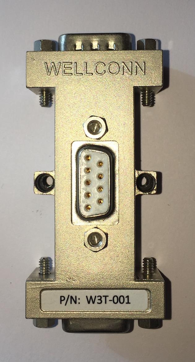 裕光科技WELLCONN 三通D型总线连接器W3T-001
