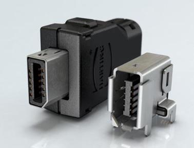 浩亭高数据传输连接器ix Industrial