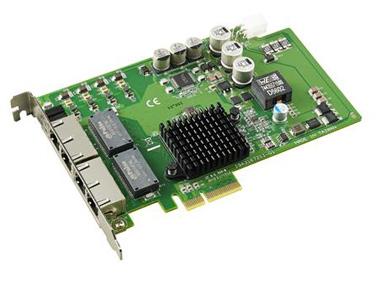 研华自适应以太网PoE通讯卡PCIE-1674