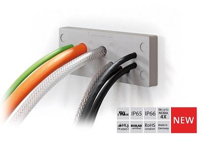 易科智连KEL-DPU 24 –带加强应力释放的电缆引入板