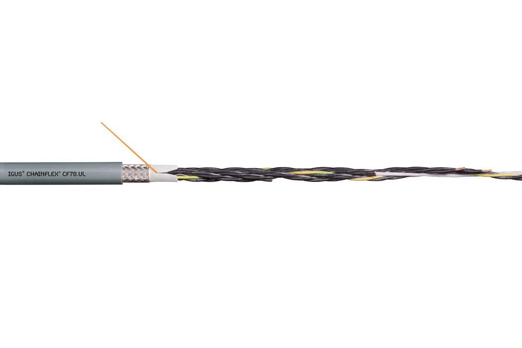 易格斯chainflex 高柔性控制电缆CF78.UL