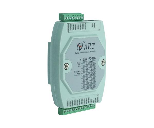 6路热电阻采集模块  DAM-E3046 带DO输出-北京阿尔泰PT100采集模块