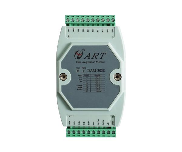 特价  DAM3038热电偶温度采集模块8路冷端补偿断偶检测钢化炉阿尔泰科技