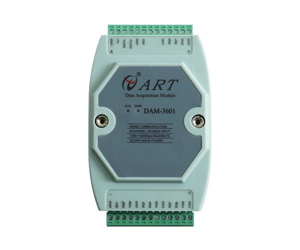 阿尔泰科技 DS18B20温度采集模块  DAM3601A 标准Modbus