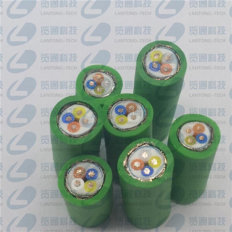 4芯绿色data cable profinet工业以太网电缆