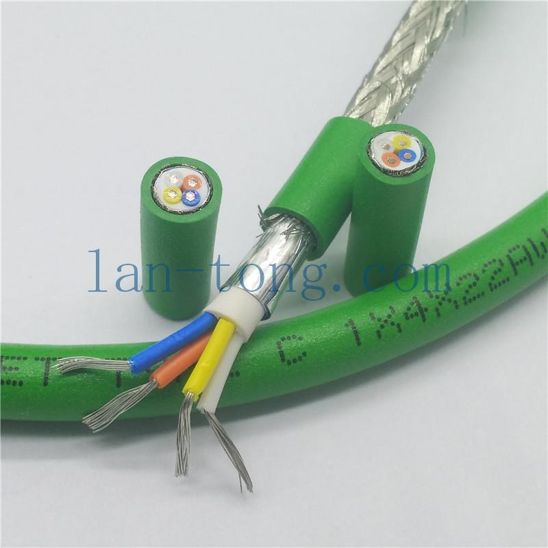 4芯绿色PROFINET cable工业以太网总线电缆