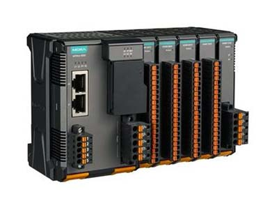 MOXA ioThinx 4530 系列高级模块化控制器,内置串口