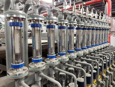 钨生产中用于测量氢气流量的科隆VA40