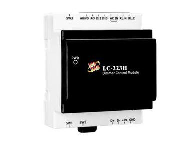 泓格调光型灯具控制模块新产品上市: LC-223H1通道调光控制具有高功率电力继电器输出和2通道干接点输入模块