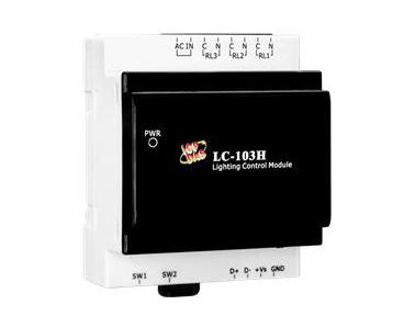 泓格照明控制模块新产品上市: LC-103H3通道灯光控制具有高功率电力继电器输出与1通道湿接点输入模块