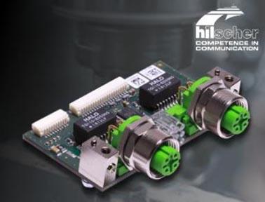 具有M12接口的赫优讯通讯板卡