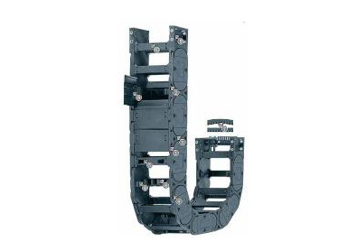 H4.56系列拖链,每隔一个链节有横杆,可沿两侧快速打开