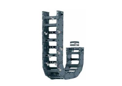 H4.80系列拖链,每隔一个链节有横杆,可沿两侧快速打开