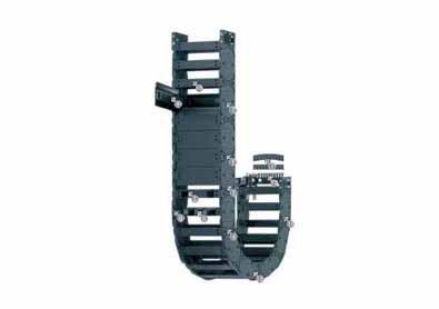 H4.32系列拖链,每隔一个链节有横杆,可沿两侧快速打开