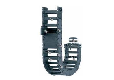 H4.42系列拖链,每隔一个链节有横杆,可沿两侧快速打开