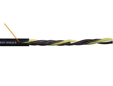 chainflex 高柔性电动机电缆CF34.UL.D