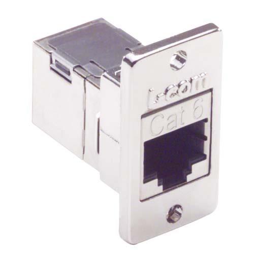 L-com 6类屏蔽式RJ45优良型面板耦合器套件ECF504-SC6