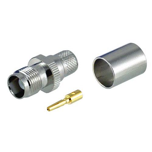 L-com诺通 TNC压接式插座,用于RG8、低损耗400系列线缆