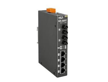 泓格PoE(PSE)以太网络交换器带2端口光纤:NSM-206PF系列