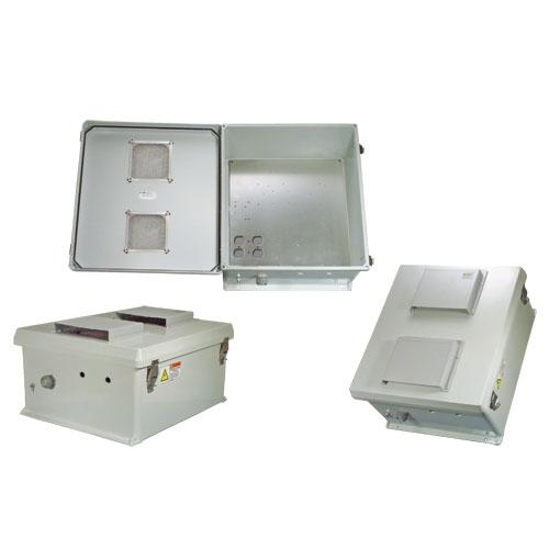 L-com诺通 NEMA级防风雨接线盒,开孔盒盖,带安装板