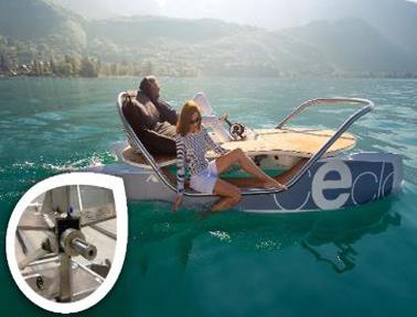 轻松滑行!免维护的igus耐磨工程轴承确保电子踏板船可靠运动
