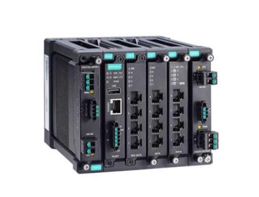 Moxa MDS-G4012-L3 系列12G 端口三层全千兆模块化网管型工业以太网交换机