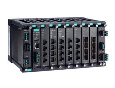 Moxa MDS-G4028-L3 系列 28G 端口三层全千兆模块化网管型工业以太网交换机