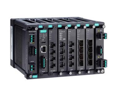 Moxa MDS-G4020-L3 系列20G 端口三层全千兆模块化网管型工业以太网交换机