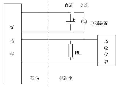 四线制变送器接线示意图