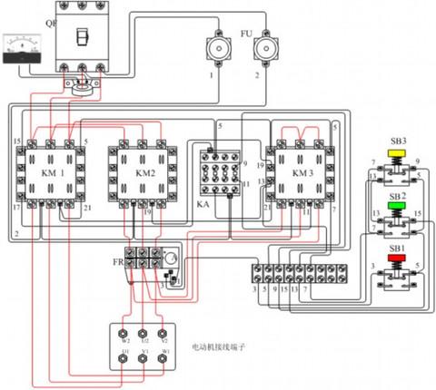 分析现象;接触器切换动作正常,表明控制电路接线无误.