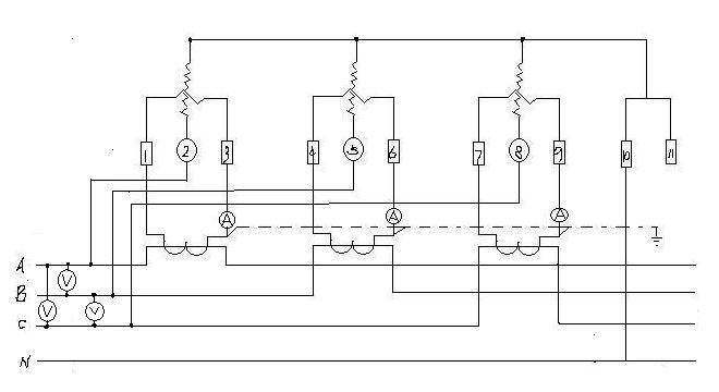 电流互感器如何既接电流表又接电度表?