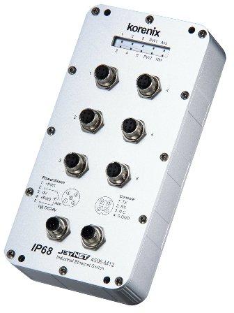 JetNet 4506-M12  6口网管型M12/IP68工业以太网交换机