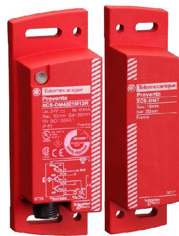 施耐德内置安全监控功能的门磁开关XCSDM3/4