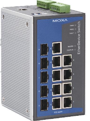 MOXA-千兆网管型工业以太网交换机-EDS-G509