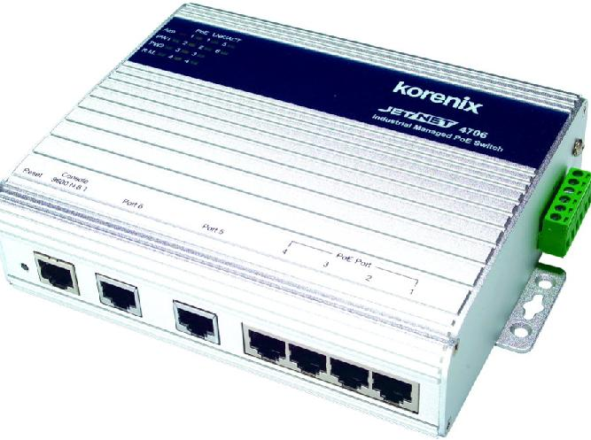 芯惠通JetNet 4706/4706f 网管型工业PoE以太网络供电交换机/(光纤)