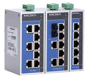 MOXA-导轨式非网管型工业以太网交换机-EDS-208A/205A系列