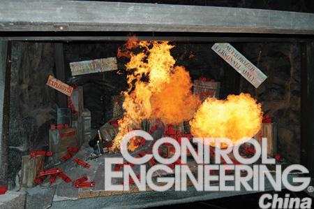 如EntechCreativeIndustries的工程师介绍过山车的火焰效果需要多重安全预防多个传感器确保喷射灯安全每30秒一次每天工作12小时
