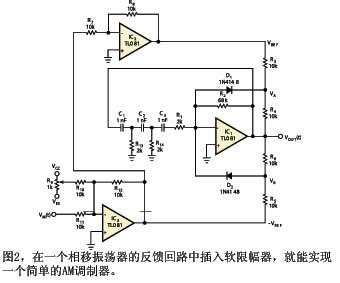 简单am调制器的软限幅电路