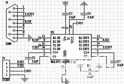 max232电平转换电路
