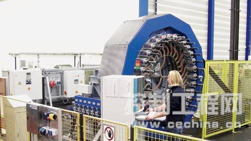 为风力发电机测试大型轴承