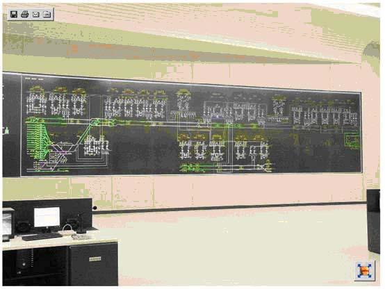 FameView组态软件在监控大屏、多屏情况下的解决方案如图