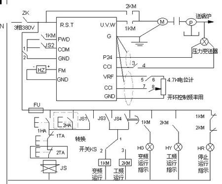 1ta安装在变频控制柜面板上的起动