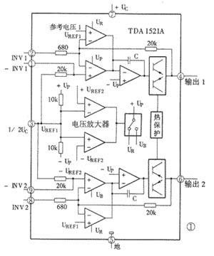 功放电路tda1521