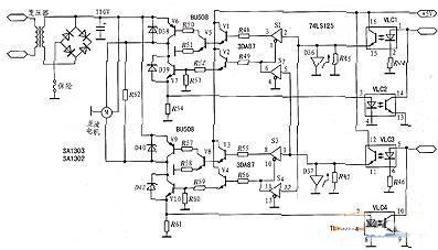 光耦合与电机驱动电路图片
