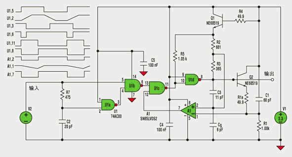 555组成单稳态电路波形图