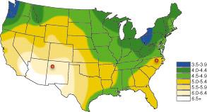 太阳能平均储备量
