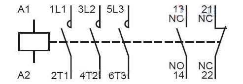 普通接触器接线图