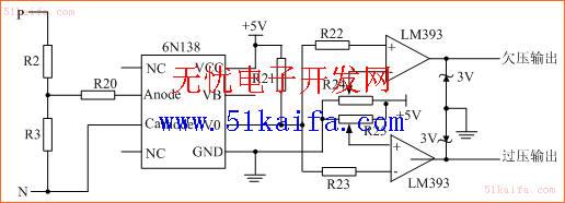图3欠压/过压保护电路