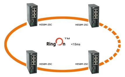 15ms内建立新的网络结构