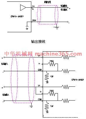 用扩展模拟单元连接电缆(mado1自带)与plc上的扩展连接器连接.
